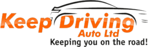 keep driving logo black