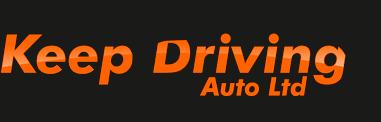keep driving logo black